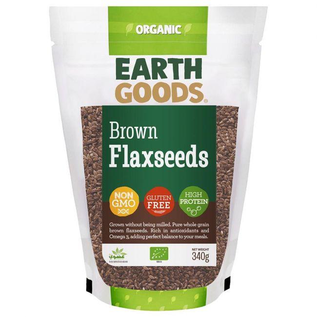 Earth Goods - Organic Brown Flax Seeds - 340g