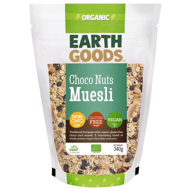 Earth Goods - Organic Gluten-Free Choco Nuts Muesli - 340g