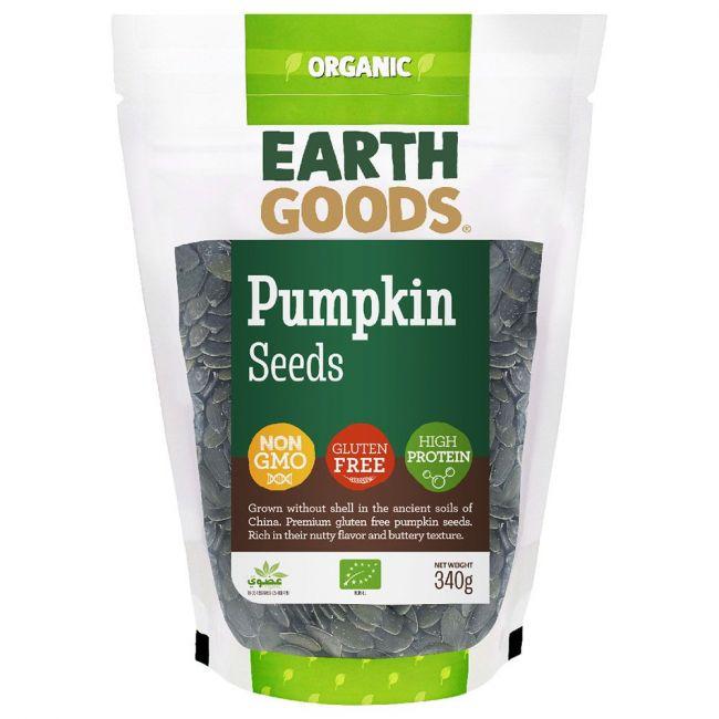 Earth Goods - Organic Pumpkin Seeds - 340g