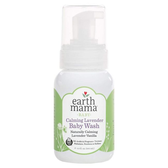 Earth Mama Baby Calming Lavender Baby Wash Lavender Vanilla, 160ml