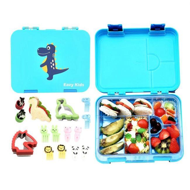 Eazy Kids - 6 & 4 Convertible Bento Lunch Box Dino