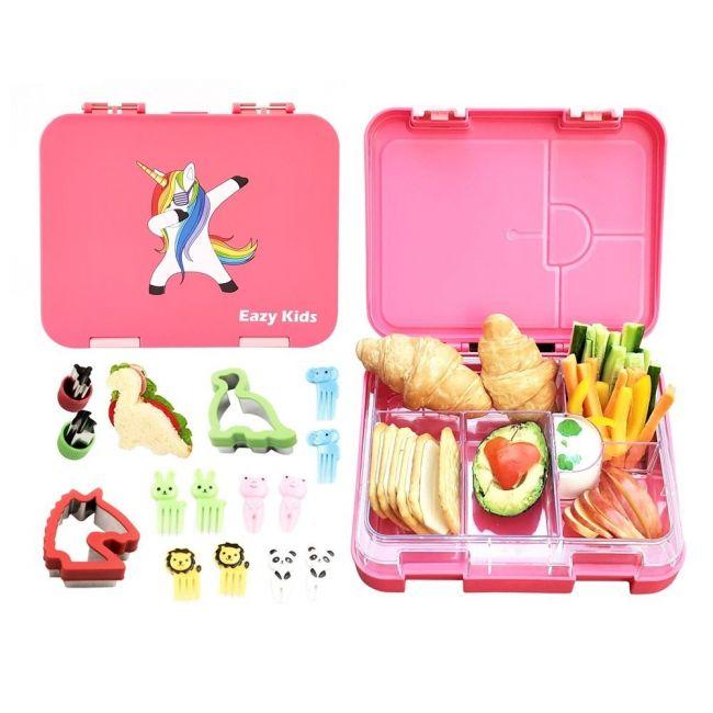 Eazy Kids - 6 & 4 Convertible Bento Lunch Box Unicorn