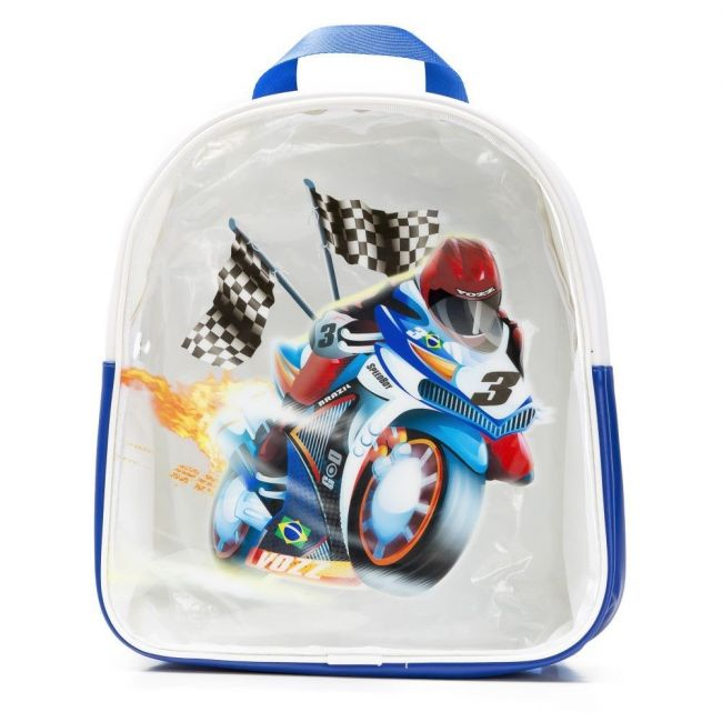 Eazy Kids -Boys Blue Backpack Bike