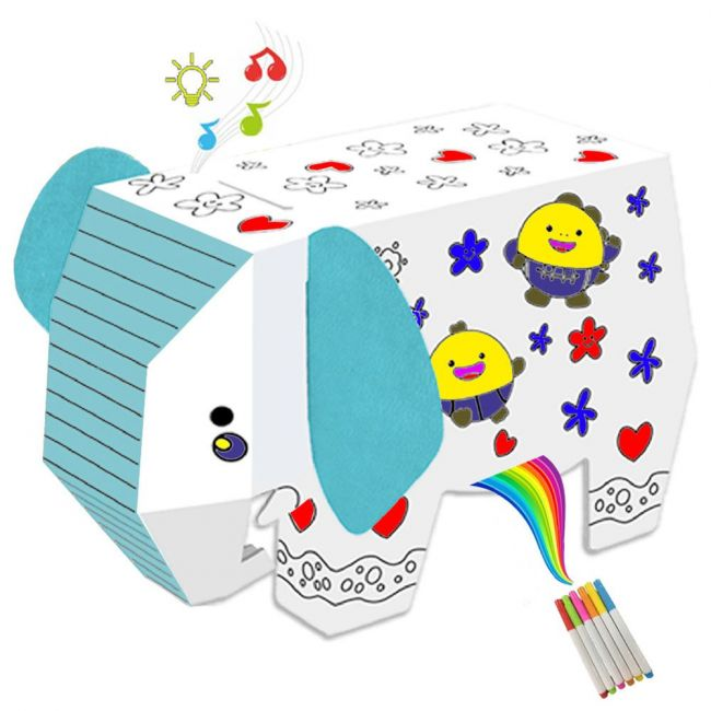 Eazy Kids - Diy Doodle Coloring Elephant With Music & Light