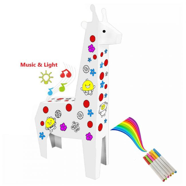 Eazy Kids - Diy Doodle Coloring Giraffe With Music And Light