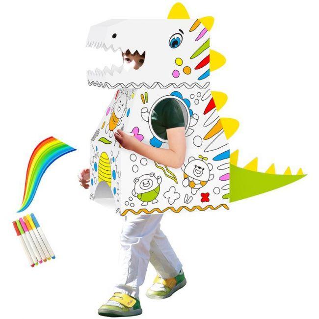 Eazy Kids - DIY Doodle Coloring Wearable Dinosaur