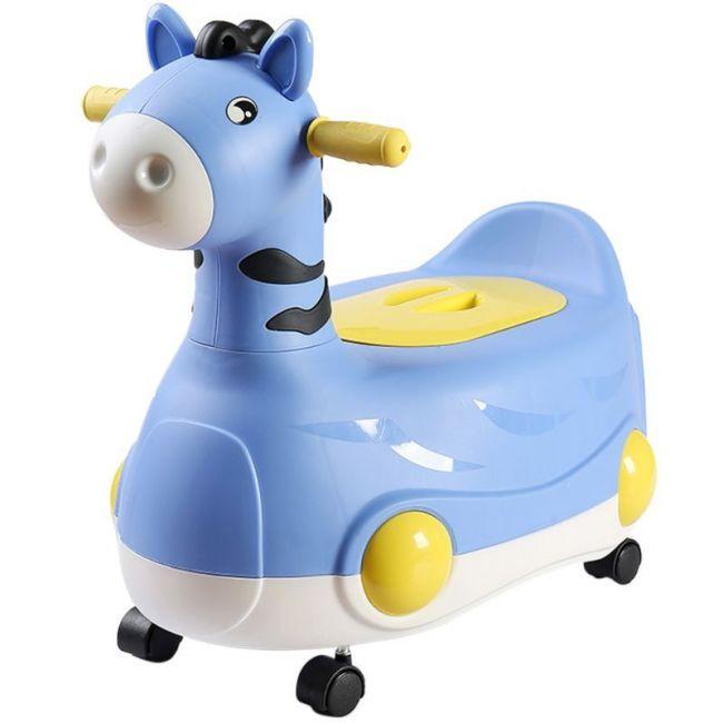 Eazy Kids - Horse Potty Car - Blue