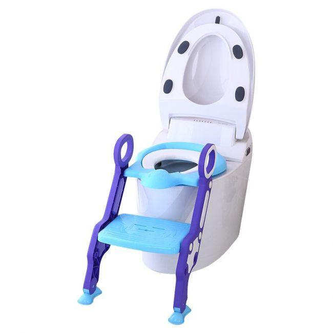 Eazy Kids - Step Stool Foldable Potty Trainer Seat - Blue