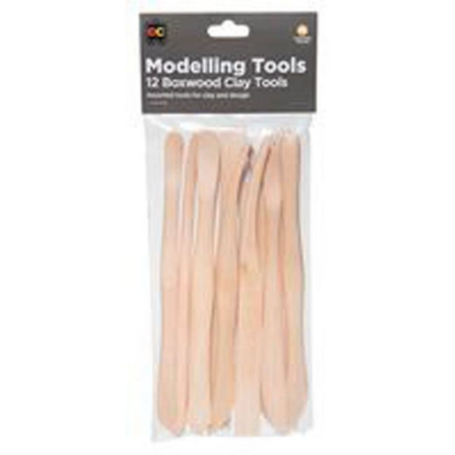 EC - Clay Modelling Tools Box Wood