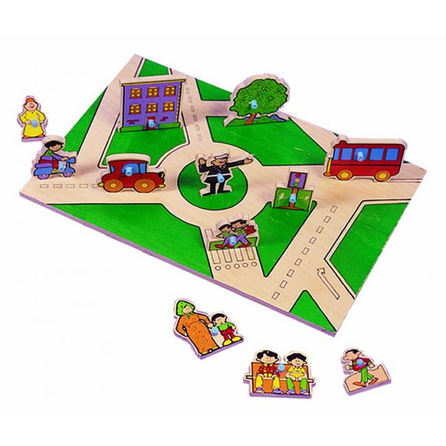 Edu Fun - City Double Sided Play Board