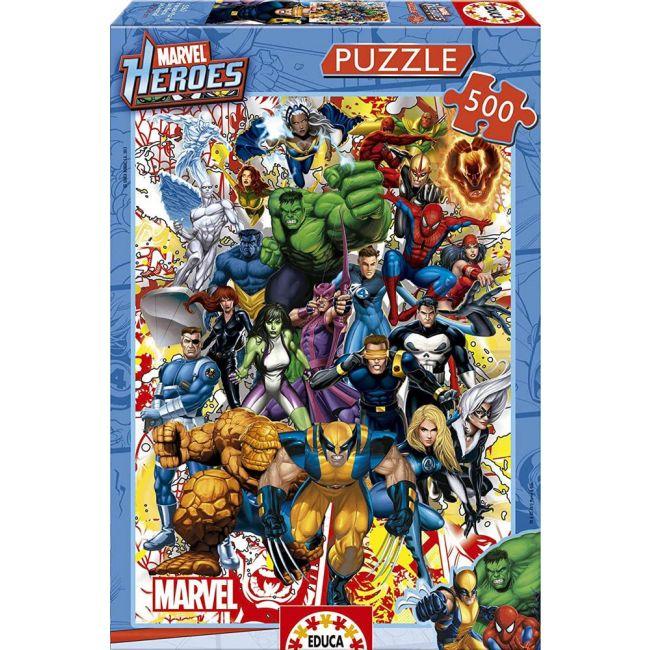 Educa - Puzzles Marvel Heroes 500 Pcs