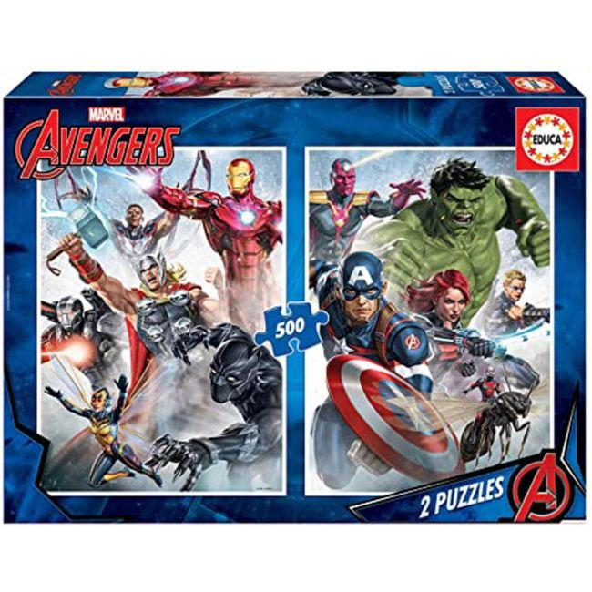 Educa - Puzzles Marvel Mania 2 X 500 Pcs
