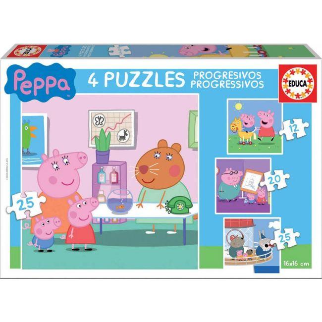 Educa - Puzzles Progressive Frozen Puzzle Case 12 16 20 25 Pcs