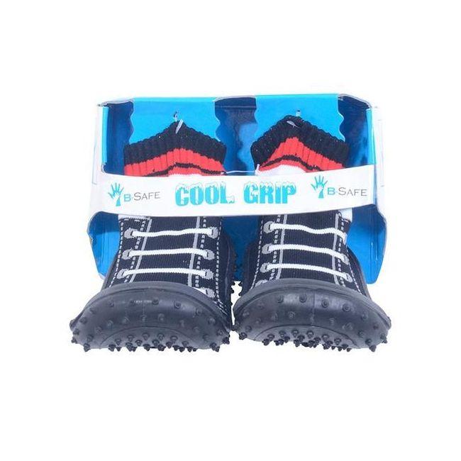 Cool Grip Baby Shoe Socks Black Shoe Lace Design