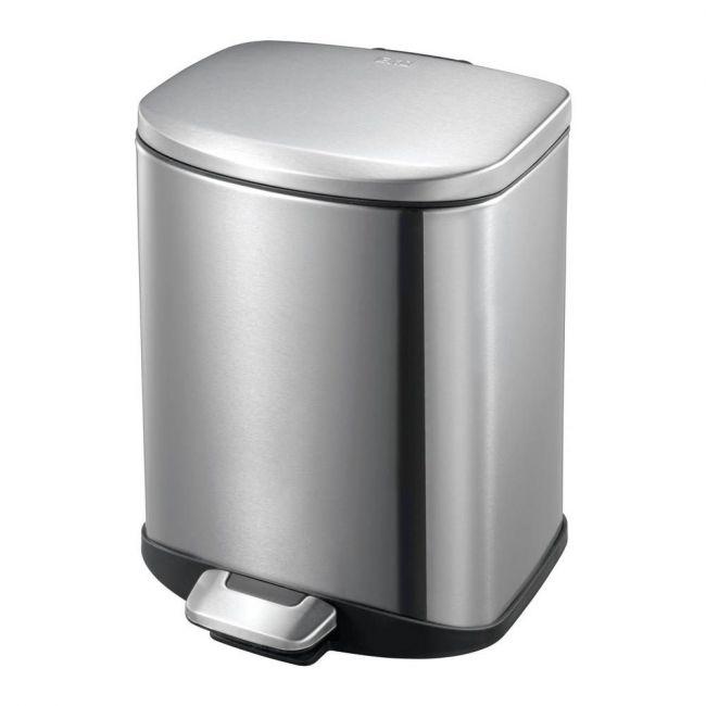 Eko - Della Stainless Steel Rectangular Step Waste Bin With Soft Close Lid, 6-Liter