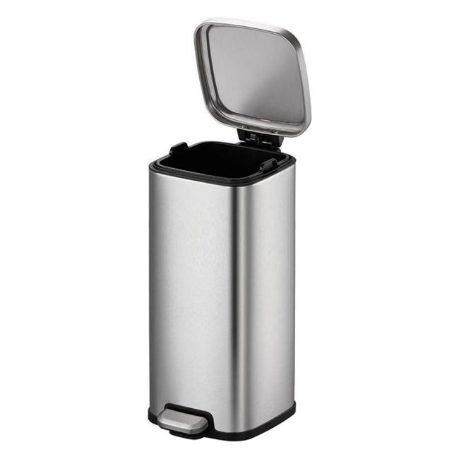 Eko - Stella 30 Liter Square Stainless Steel Step Waste Bin