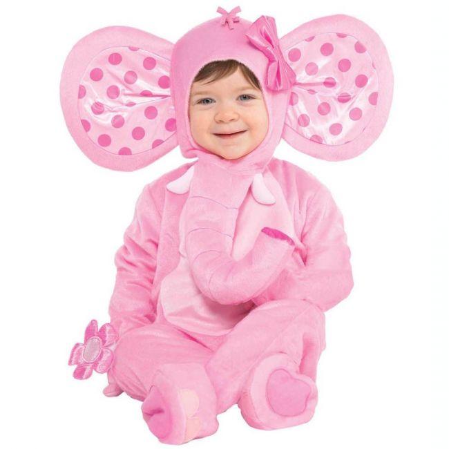 Elephant Sweetie Costume Includes Jumpsuit Hood Booties Wrist Rattle