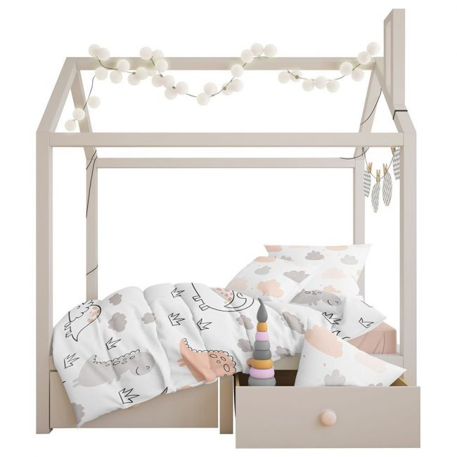 Elli Junior - Duvet Cover Set Dino/Cloud Toddler Bed