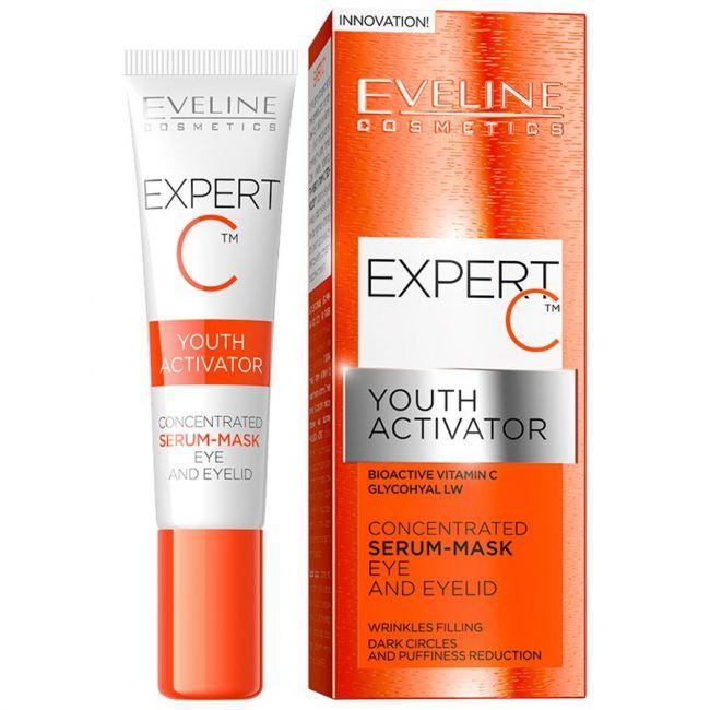Eveline Expert C Youth Activator Serum Mask Eye-Eyelid 15ml
