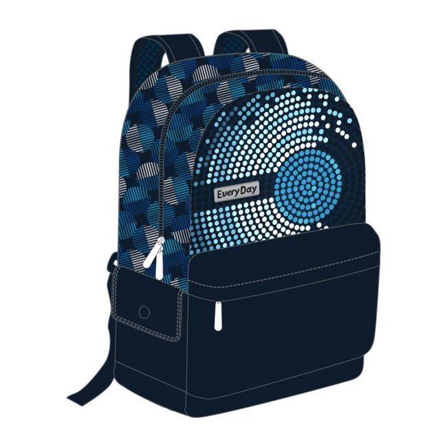 """EveryDay - 3 In 1 Backpack 18"""" - Blue"""