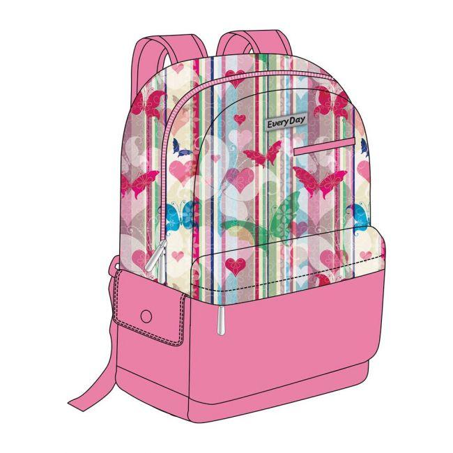 "EveryDay - 3 In 1 Pink School Backpack 18"""