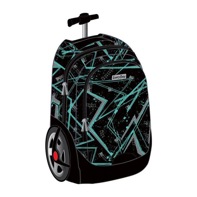 "EveryDay - 3 In 1 Big Wheels Trolley Bag 18"" - Black"