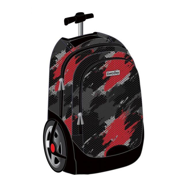 "EveryDay - 3 In 1 Big Wheels Trolley Bag 18"" - Red"