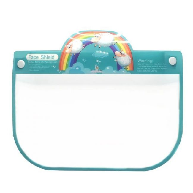 """Face Shield - Design """"Rainbow with Sheep"""""""