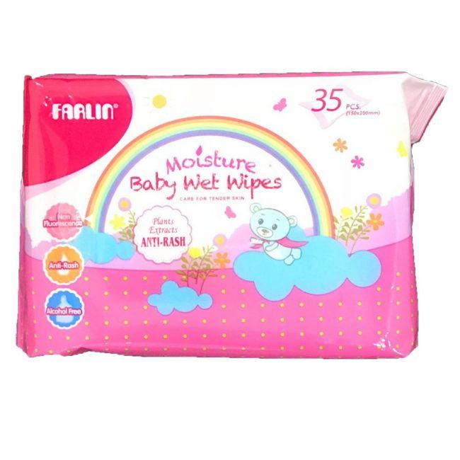 Farlin - Baby Anti Rash Wet Wipes - 35s