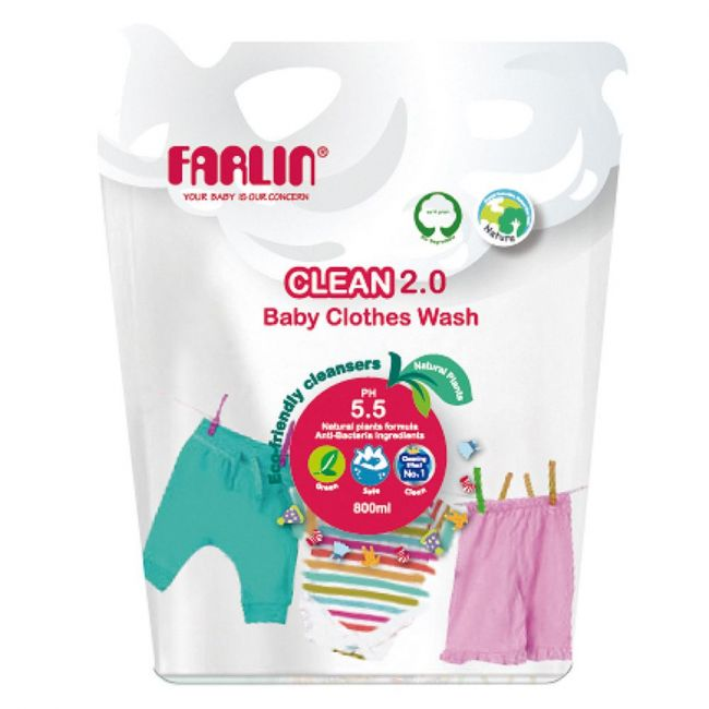 Farlin - Baby Clothing Detergent Refill Pack 800ml