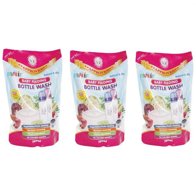 Farlin - Baby Feeding Bottle Wash Refill - Pack of 3