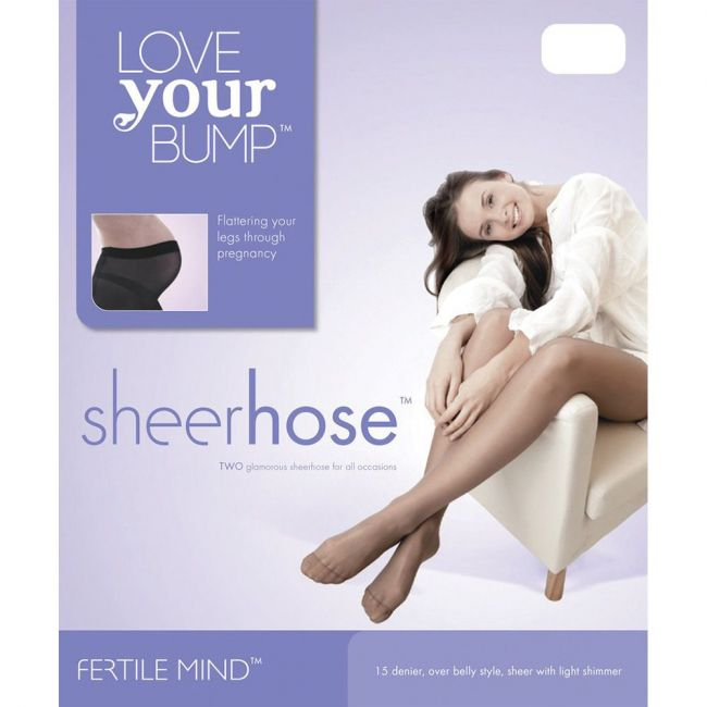 Fertile Mind - Maternity Tights Sheer Hose - Nude (Pack of 2)