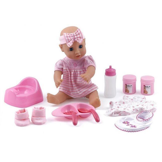 """Dollsworld Pink Baby Dribbles Doll Gift Set 30cm (12"""")"""