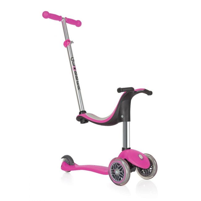 Globber Evo Deep Pink 4 in 1 Scooter