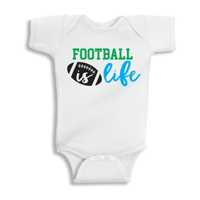 Twinkle Hands Football is life Baby Onesie, Bodysuit, Romper