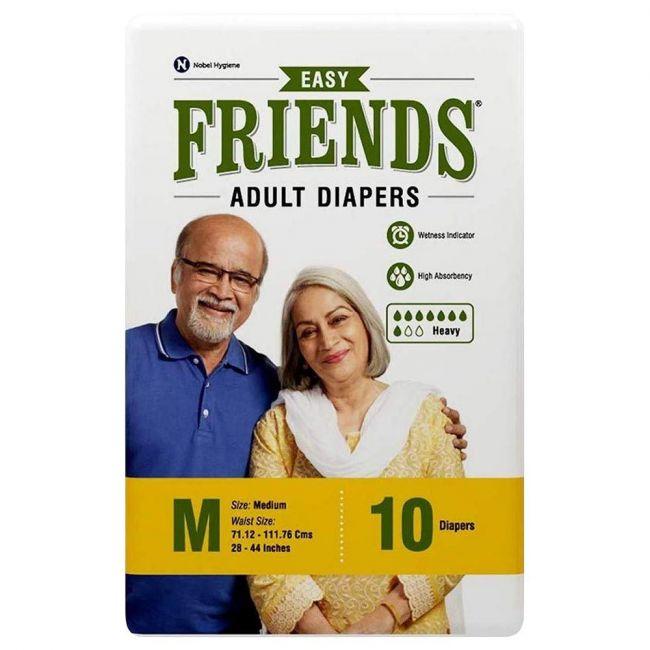 Friends - Adult Diapers, Easy Medium - 10 Pcs