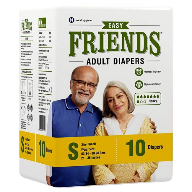 Friends - Adult Diapers, Easy Small - 10 Pcs