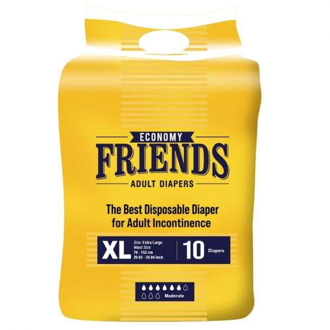Friends - Adult Diapers Economy Extra Large  - 10 Pcs