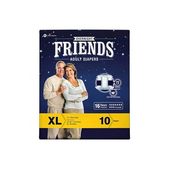 Friends - Adult Diapers Over night Extra Large 10 s