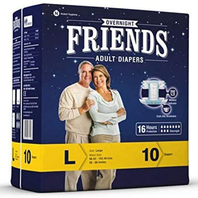 Friends - Adult Diapers Over night Large 10 s