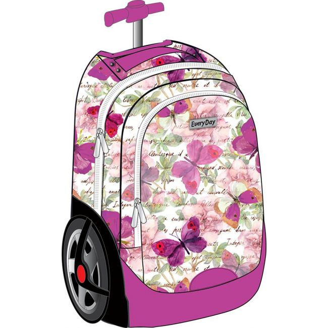 Generic - Big Wheel Trolley Bag Set ( Include Lunch Bag And Pencil Case )