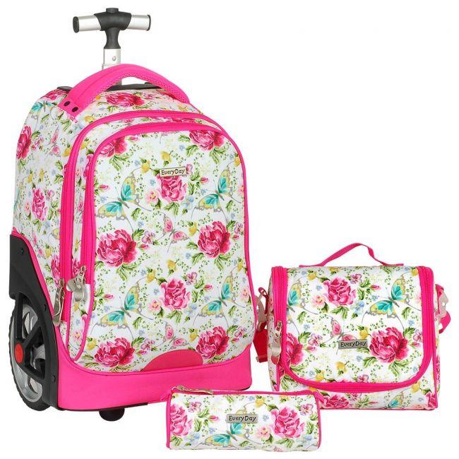 Generic - Everyday - 3 Pcs Trolley Bag Set (Big Wheel) - Pink