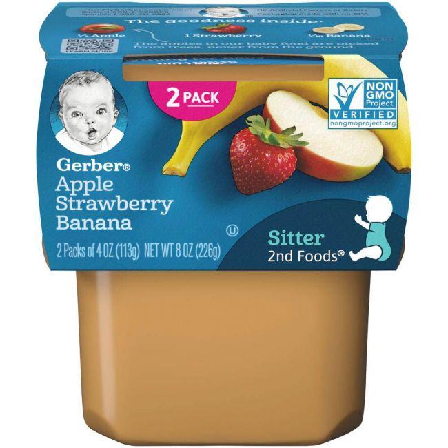 Gerber - 2Nd Foods Apple Strawberry Banana 226 Grams