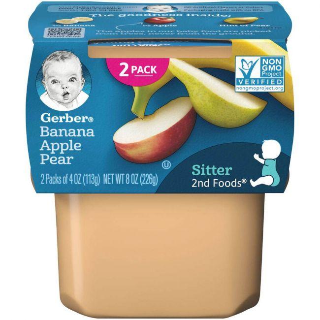 Gerber - 2Nd Foods Banana Apple Pear 226 Grams