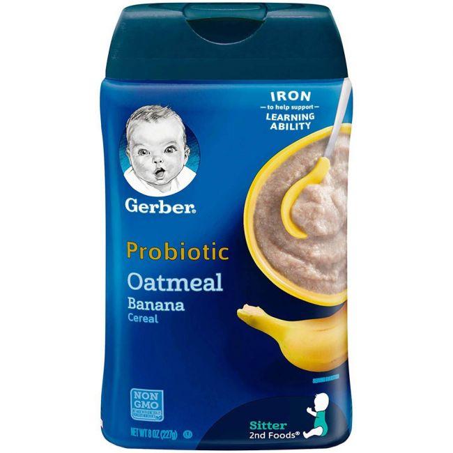 Gerber - 2Nd Foods Cereal Oat Banana Probiotic 227 Grams