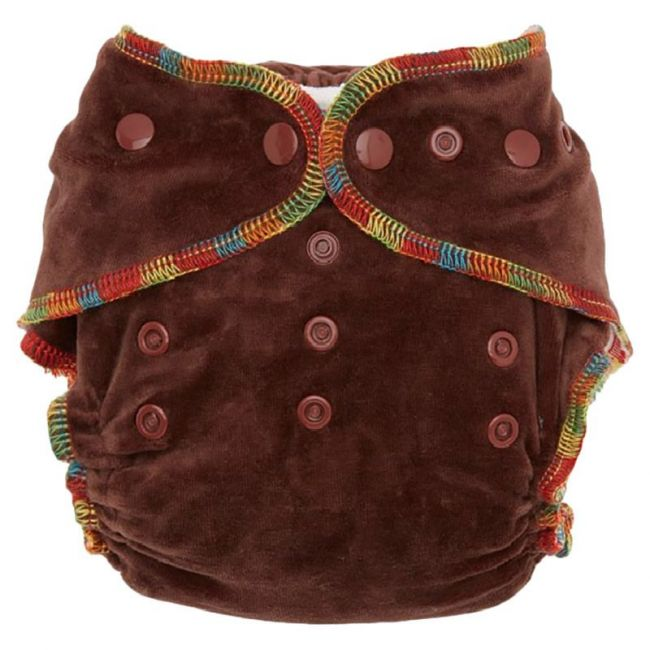 Night Angel Baby Reusable Cloth Diaper WT 2 Nappy Brown