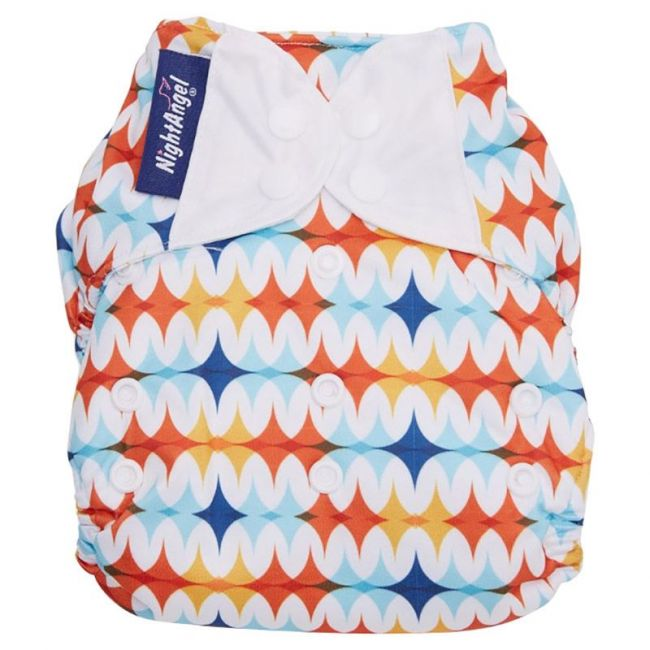 Night Angel Baby Reusable Cloth Diaper WT 2 Nappy Zig Zag