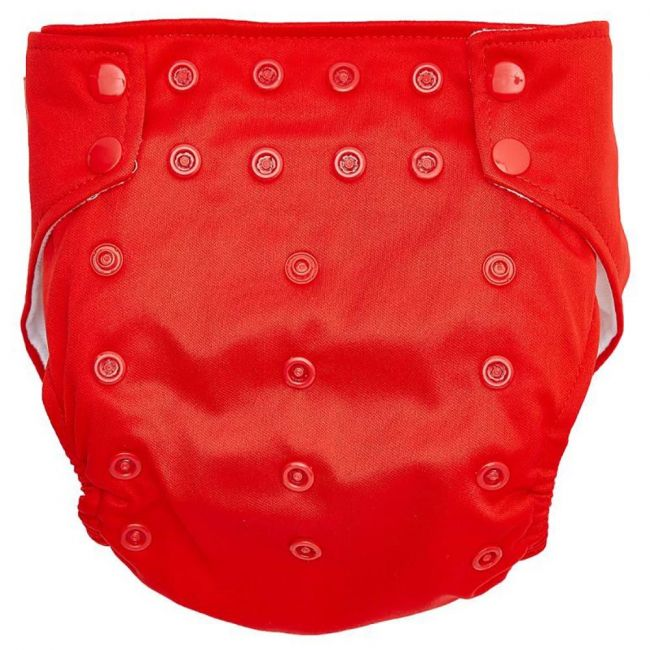 Little Angel - Baby Reusable Diaper One Size + 2 Nappy - Red