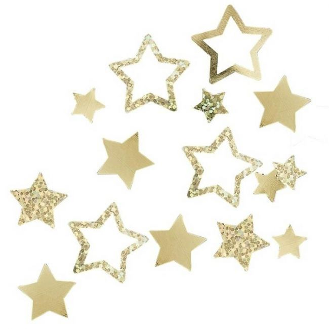 Ginger ray - Gold Confetti Star Shaped