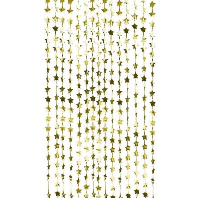 Ginger ray - Gold Star Curtain Backdrop